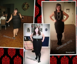 Three Christmas party outfits